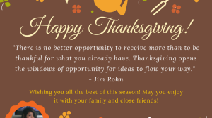 At Thanksgiving – What Are You Thankful For?